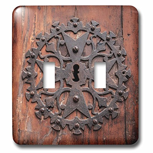 3dRose Danita Delimont - Doors - Spain, Balearic Islands, Mallorca, Arta. Decorative Key hole - Light Switch Covers - double toggle switch (lsp_277914_2) by 3dRose
