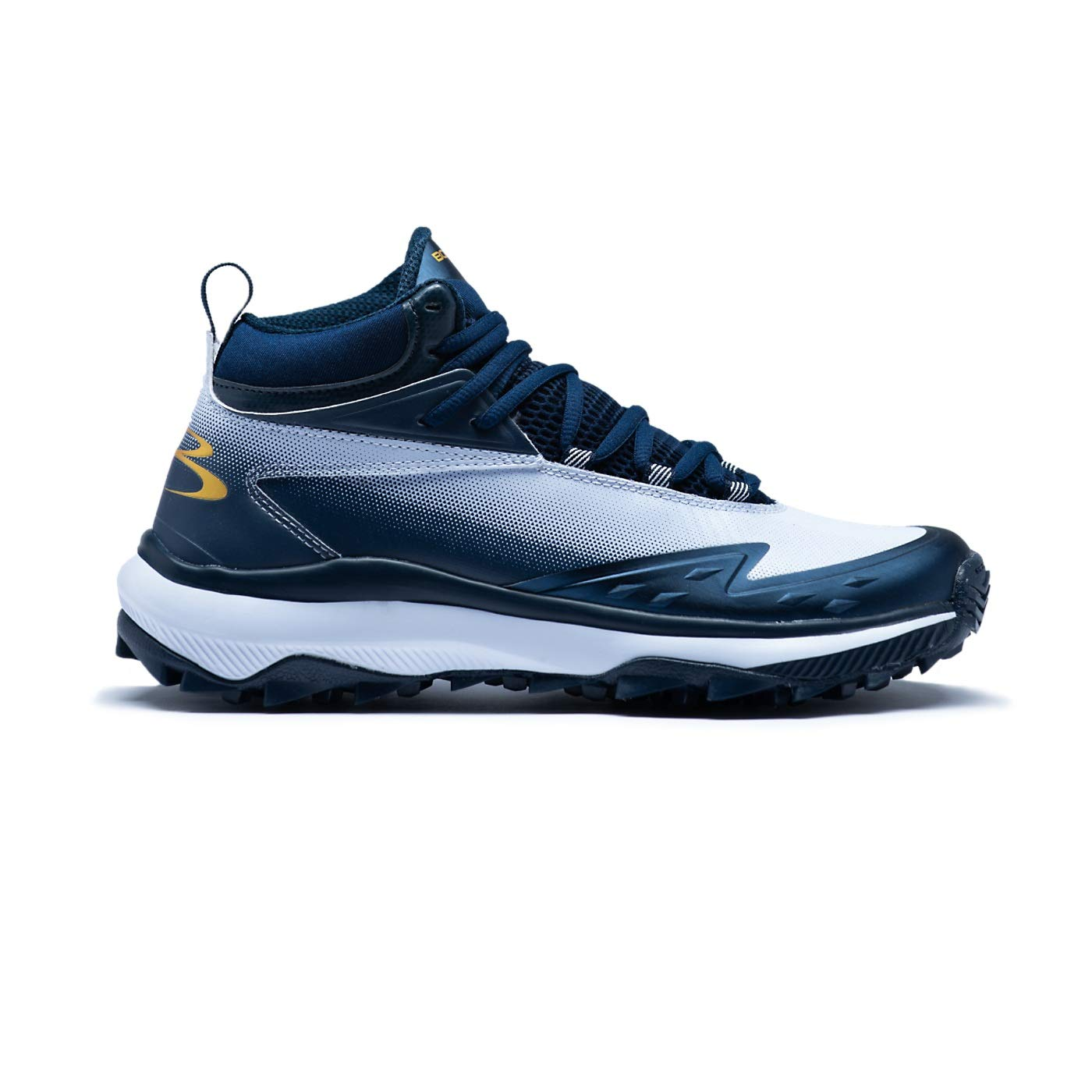 Boombah Men's Commander Mid Turf Shoes Navy/White - Size 11 by Boombah