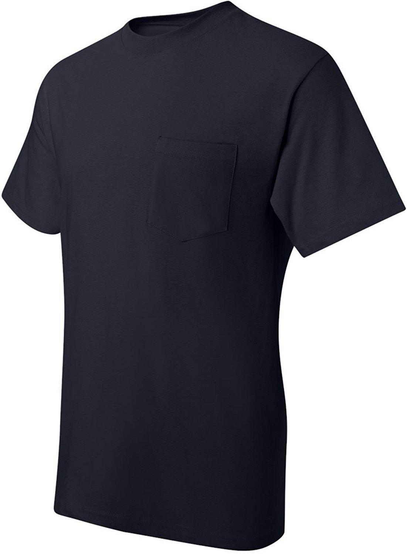 Hanes Men's Nano Premium Cotton Pocket T-Shirt (Pack of 2) (X-Large, Navy)