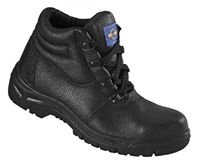 1fbb2192c00 Mens Proman Black Leather Water Repellent Safety Boots Sizes 8 9 10 ...