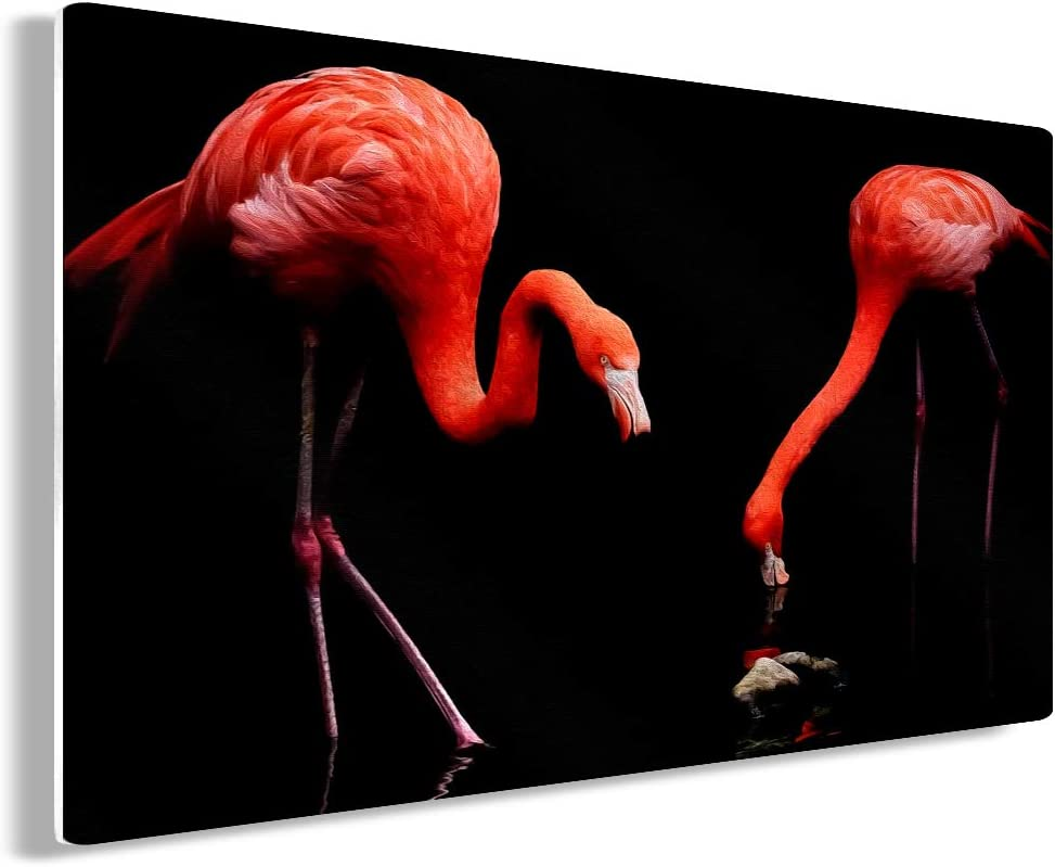 Funny Ugly Christmas Sweater Flamingo Metal Wall Art Graceful Birds Home Decor Prints Boho 11