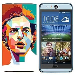 TECHCASE---Cubierta de la caja de protección para la piel dura ** HTC Desire Eye ( M910x ) ** --Polígono Naranja trullo Redhead retro