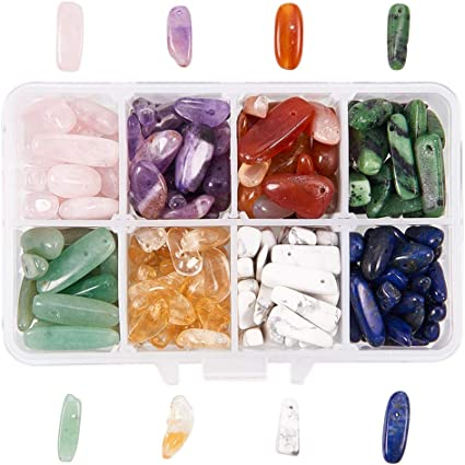 1 boîte de pierres précieuses naturelles spacer perles en vrac 10 sortes