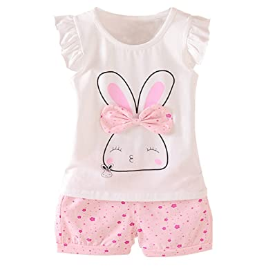 151ba1afb Amazon.com  MH-Lucky Baby Girl Clothes Summer Outfits Short Sets 2 ...