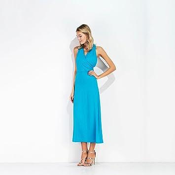YAN Vestido de Mujer Vestidos de Mujer Street Chic Vestido de Tubo Color Sólido, sin