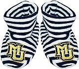 Marquette University Newborn Baby Striped Bootie Sock