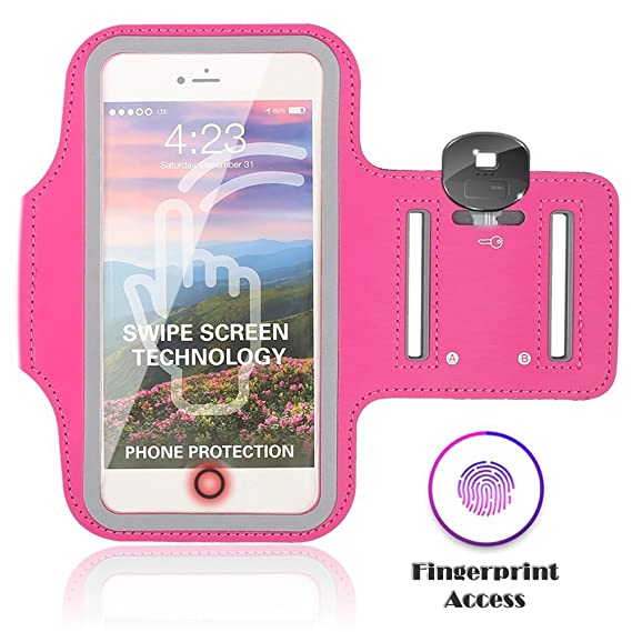 new style 195d0 42741 Sports Running Armband Case for iPhone 8 Plus/ 7 Plus/ 6S Plus/ 6 Plus/X 8  7 6S 6, Eaxxfly Touch Supported Cell Phone Armband Waterproof Adjustable ...