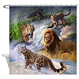 mountain lion target - CafePress - Big Cats - Decorative Fabric Shower Curtain (69