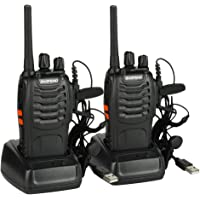 Baofeng BF-88E Talkie-walkie PMR 446 sans Licence avec Casque(2 pcs)