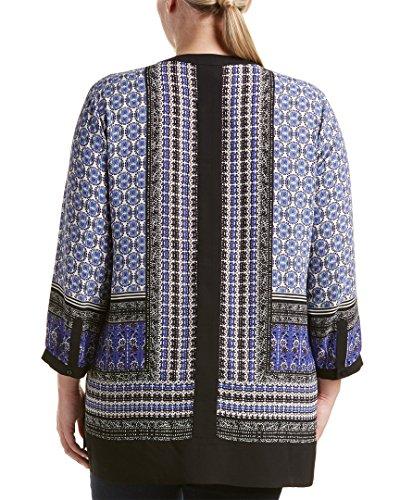 NYDJ Women's Plus-Size Printed Border Tunic, Romania Border Oxford Blue, 3X