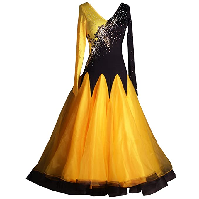 Amazon.com: Vestidos de manga larga de baile Practise Dance ...