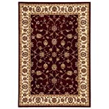 Claire Red/Beige Polypropylene 7 ft. 10 in. x 10 ft. Area Rug