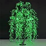 Willow Tree Light 1.8M/6FT Green Color Rainproof Indoor Outdoor decor ,Holiday party Christmas party brithday Gift deco