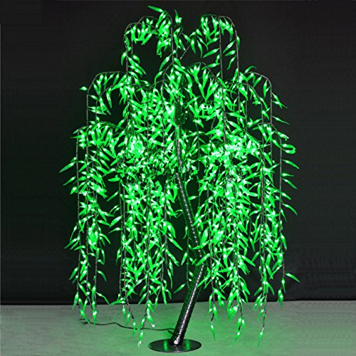 Willow Tree Light 1.8M/6FT Green Color Rainproof Indoor Outdoor decor ,Holiday party Christmas party brithday Gift deco by Generic (Image #3)