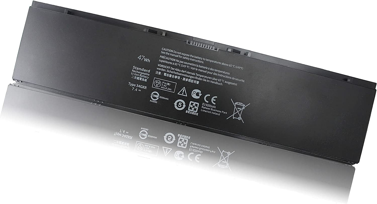 47WH E7440 34GKR New Battery Compatible with Dell Latitude 14 7000 E7450 E7420 Series PFXCR 0G95J5 F38HT V8XN3 909H5 G95J5 0909H5 T19VW 5K1GW 3RNFD 451-BBFT 451-BBFV - 12 Months Warranty