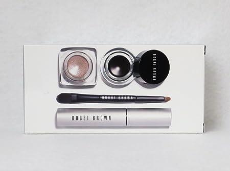 Bobbi Brown Long-Wear 4-piece Eye Set, Mascara Gel Eyeliner Metallic Cream Shadow Plus Mini Brush 109.50