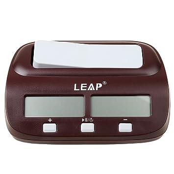 Sharplace Temporizador Reloj de Ajedrez Digital Portátil Contador de Tiempo para Juego de Mesa