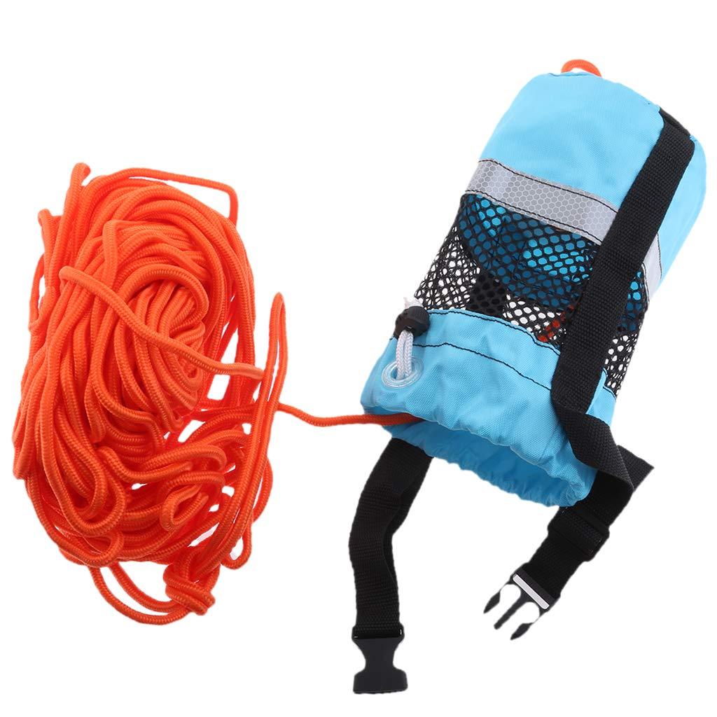 Homyl Blue 102ft Rescue Emergency Drowning Bag Line Rope Saver Swiming Throw Bag by Homyl (Image #3)