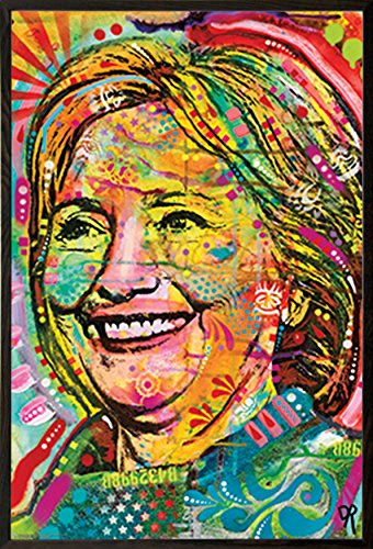 Hillary By Dean Russo Poster (24x36) in a Walnut Wood Frame 22044-PSA011005 (Walnut Hillary)