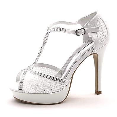 Salomés Chaussure Mode Femme Stiletto Escarpin Angkorly Sandale CaUZnq144w