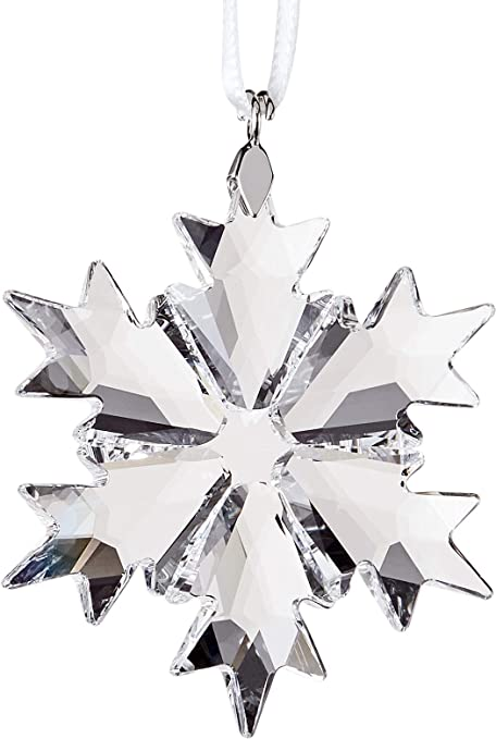 0a027efef Amazon.com: Swarovski Little Snowflake Ornament, Small, Clear Crystal:  Swarovski: Home & Kitchen