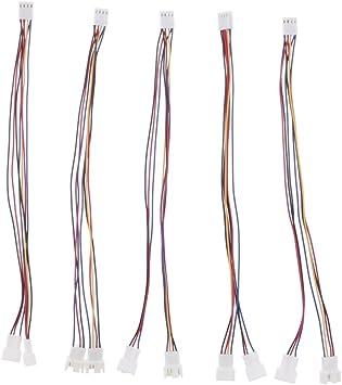 non-brand Pack de 5 Cables para Ventilador de Ordenador, Adaptador ...