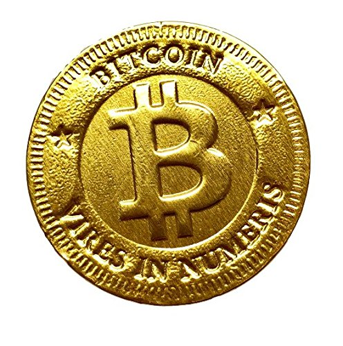 (Bitcoin Chocolate Coins - Gluten Free, Solid Milk Chocolates , Kosher Certified Gelt | Cryptocurrency Themed Souvenir, Party Favor or Fun Gift)