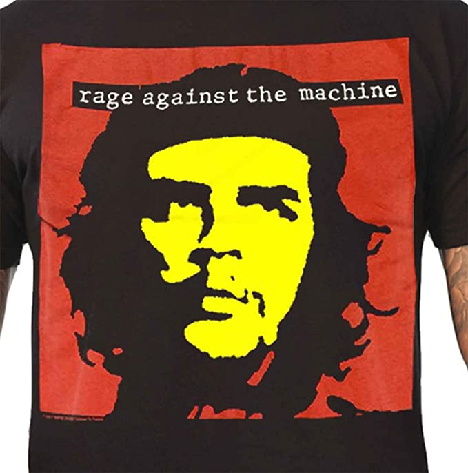 Rage Against the Machine T Shirt Che Guevara Band Logo Official Mens New Black