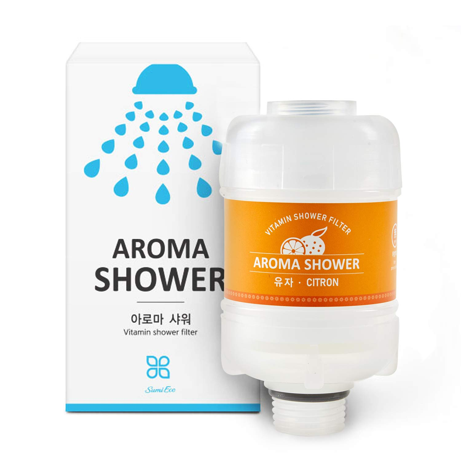 DAL STORY Vitamin shower filter Remove 99.9/% of Chlorine and Chloramines Jeju Citron