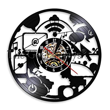 Ltood Geek Chic It Ordinateur Moderne Horloge Murale Bureau
