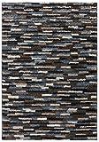 Mohawk Home Augusta Mesa Geometric Woven Shag Area Rug, 10'x14', Black, Blue, and Brown