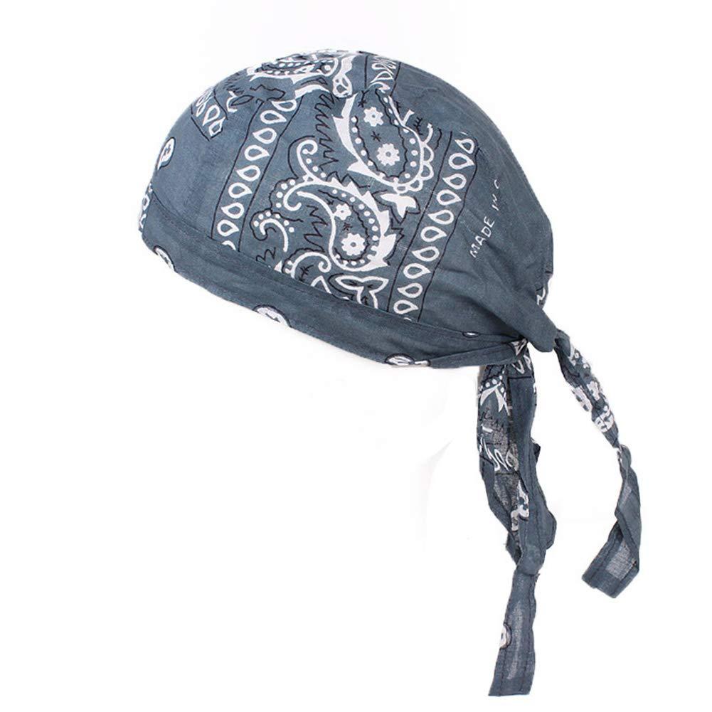 Feli546Bruce Bandana en Coton pour Homme et Femme Motif Pirates