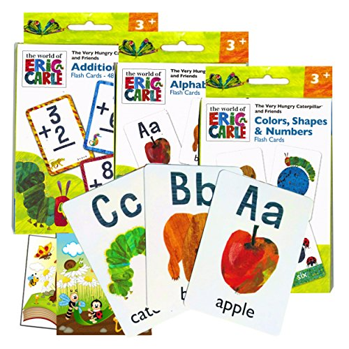 World of Eric Carle Flash Cards ~ ABC, Numbers, Colors, Shapes, and More! Plus 2 Bonus Reward Stickers!