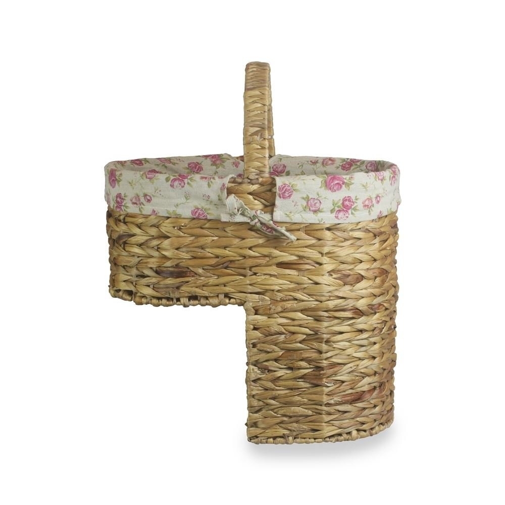 Water Hyacinth Stair Basket with Cotton Lining by Red Hamper