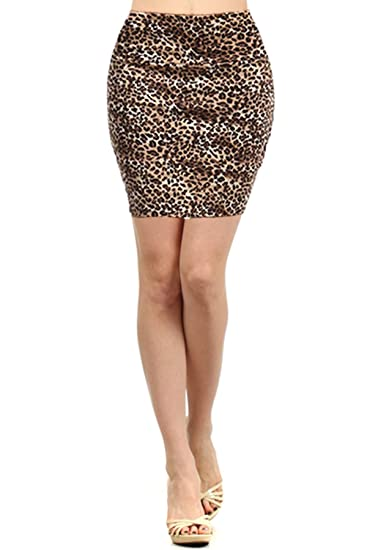 27117d013032 Simply Savvy Co USA Sexy Leopard or Snakeskin Cheetah Animal Print Mini  Skirts for Women at Amazon Women's Clothing store: