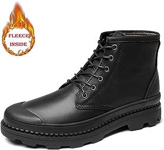 Dundun-boots, 2018 Nouvelles Bottes à Venir, Botte de Travail pour Hommes Casual Casual Fashion Unisexe Hiver Faux Fleece Inside High Top Boot (Conventionnel en Option) (Color : Noir, Taille : 39 EU)