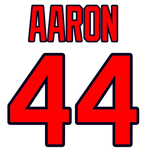 check out 30593 ae18b Hank Aaron Atlanta Braves Jersey Number Kit, Authentic Home ...
