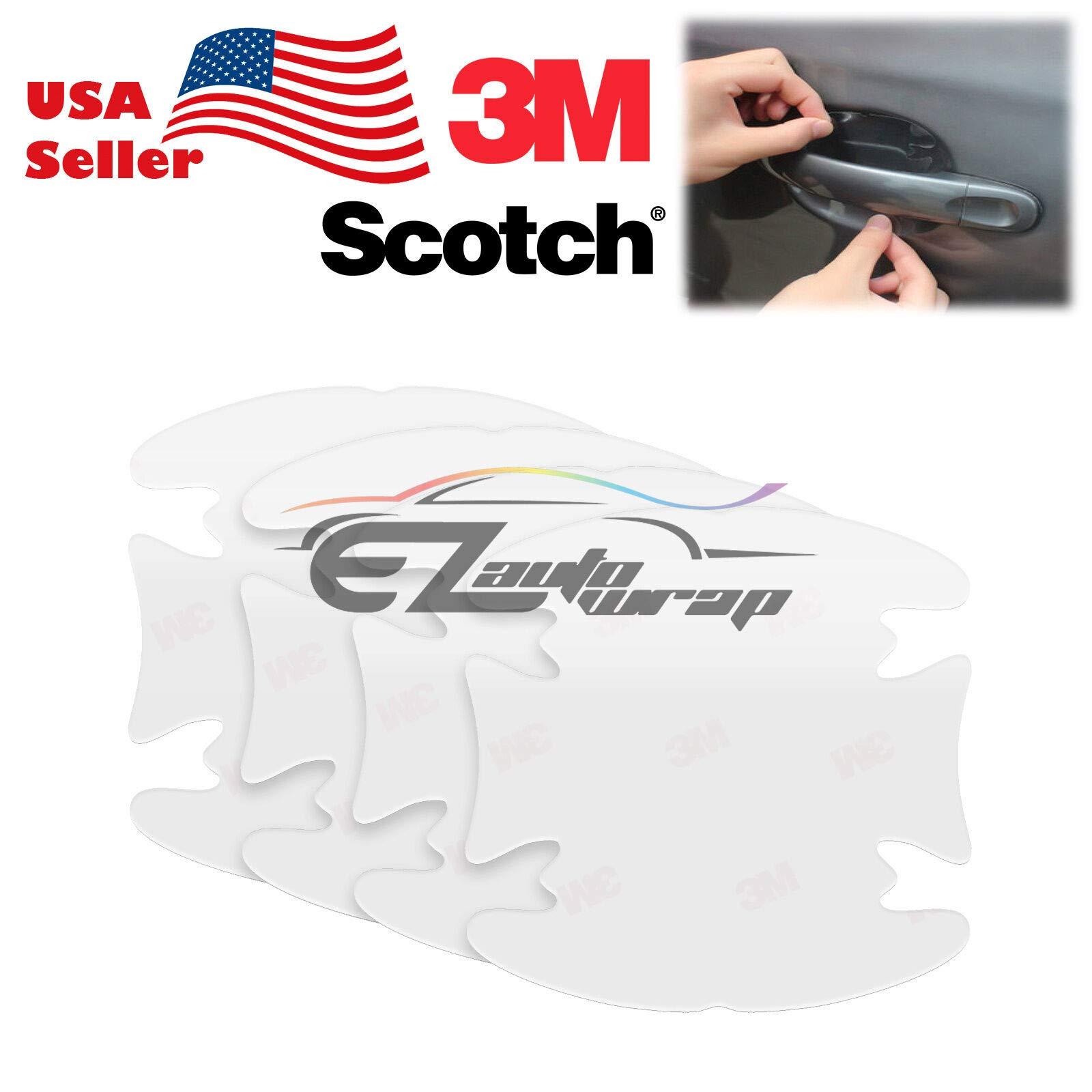 EZAUTOWRAP 4PCs 3M Scotchguard Clear Door Cup Handle Paint Scratch Protection Guard Film Bra Vinyl Style 1 by EZAUTOWRAP (Image #1)