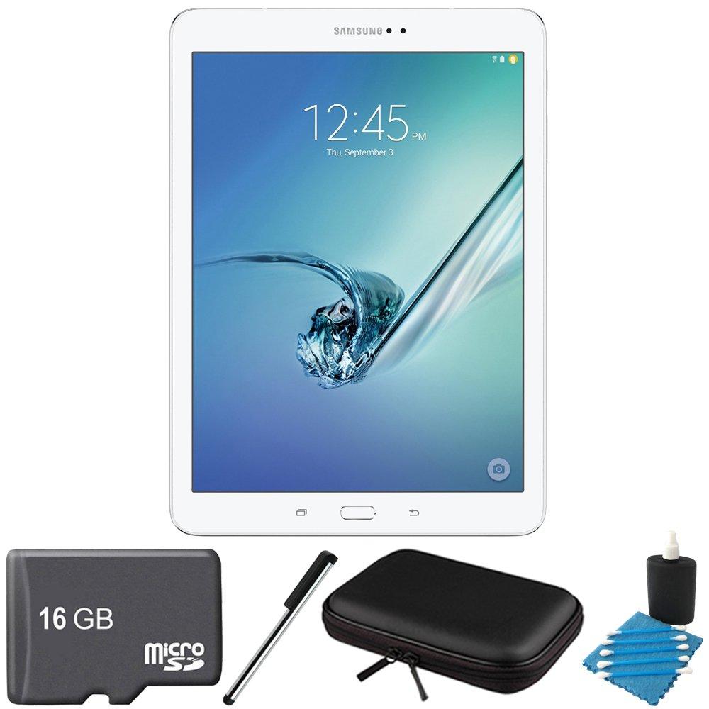 Samsung Galaxy Tab S2 9.7-inch Wi-Fi Tablet (White/32GB) SM-T810NZWEXAR 16GB MicroSD Card Bundle includes Galaxy Tab S2, 16GB MicroSD Card, Stylus Stylus Pen, Protective Tablet Sleeve by Samsung