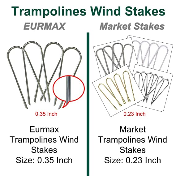 Eurmax Trampolines Wind Stakes Heavy Duty Safety Ground