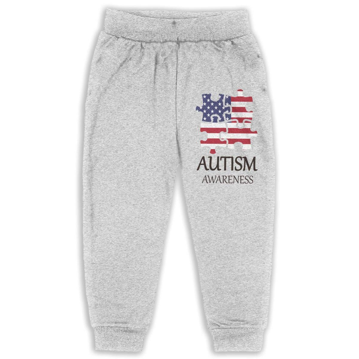 Udyi/&Jln-97 American Flag World Autism Awareness Day 2 Kids /& Toddler Sweatpants Soft Cozy Girls Boys Jersey Pant