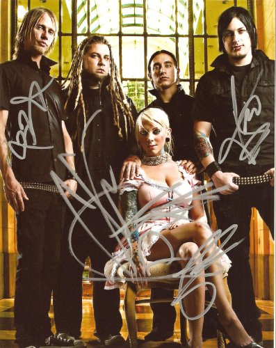 In This Moment full band signed autographed reprint photo #1 RP Maria Brink -