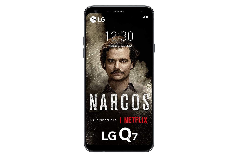 "LG Q7 - Smartphone de 5.5"" (Mediatek MT6750 Octa Core 1.5 Ghz, 32 GB de memoria, 3 GB RAM, cámara Pro 13MP con IA), Azul"