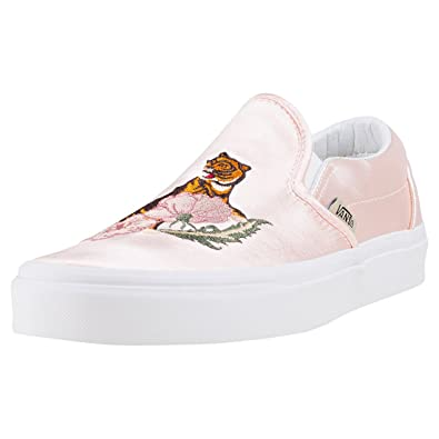 9a8a09589b683b Vans Unisex UA Classic Slip-On DX (California Souvenir) Rose Dust Blanc
