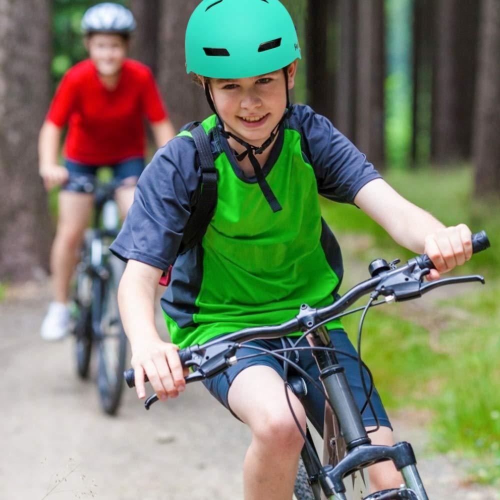 FerDIM Skateboard Helmet Kids//Adult Adjustable Helmet CPSC Certified Impact Resistance Ventilation for Multisport Roller Skating Skateboarding Cycling Scooter Longboarding Rollerblading Longboard