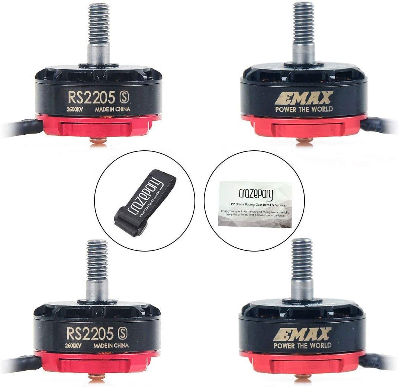 Crazepony 4pcs Emax ECO 2207 1700KV 3-6S Brushless Motor for RC Drone FPV Racing