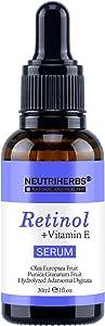 Neutriherbs Superior Retinol Serum - Intensive Wrinkle Repair Retinol Vitamin A Retinol Antioxidant Serum For Face Care (Retinol Serum)