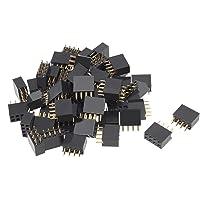 uxcell - Lote de 50 Conectores Rectos Hembra