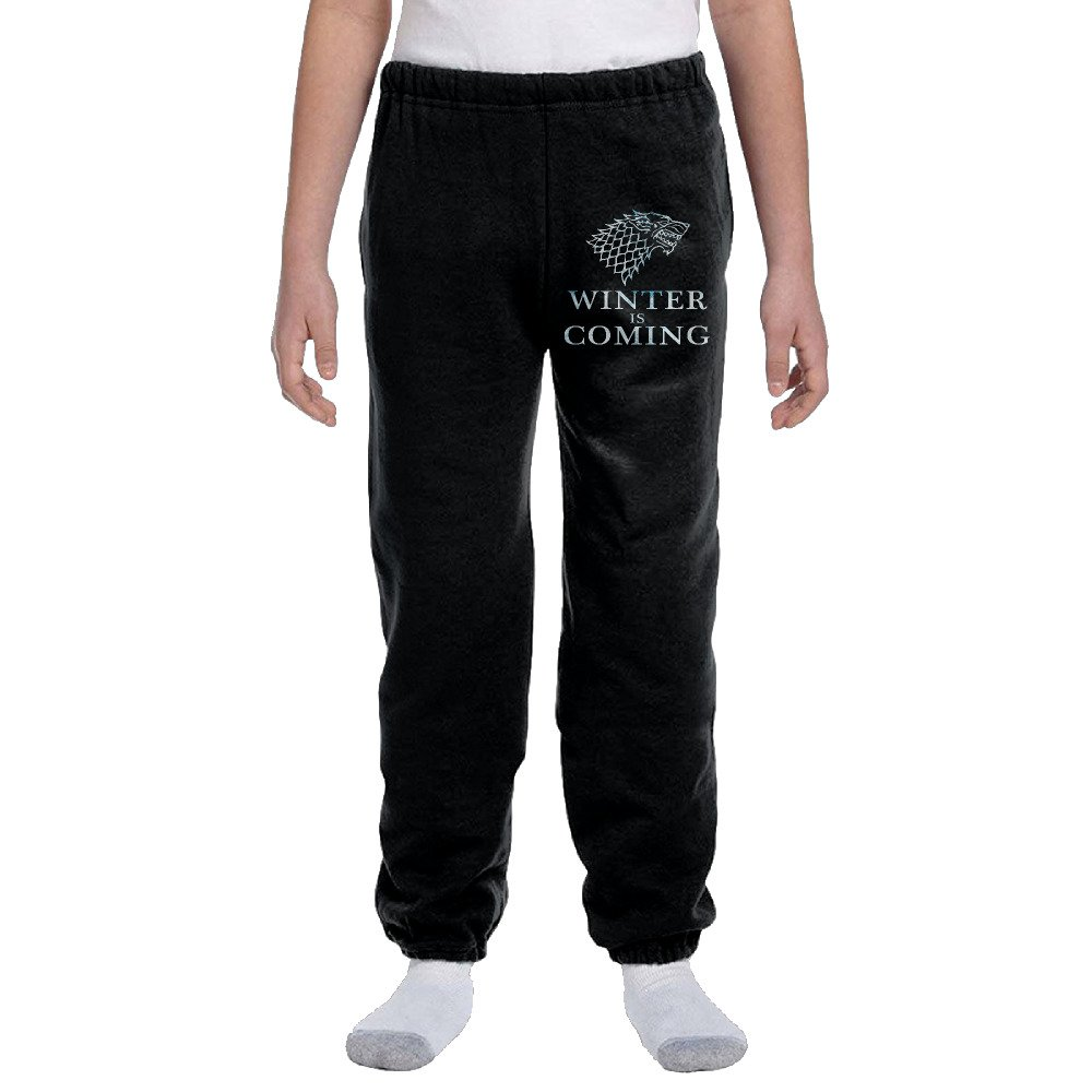Game Of Thrones Stark Wolf Youth Basics Fleece Pocketed Sweat Pants