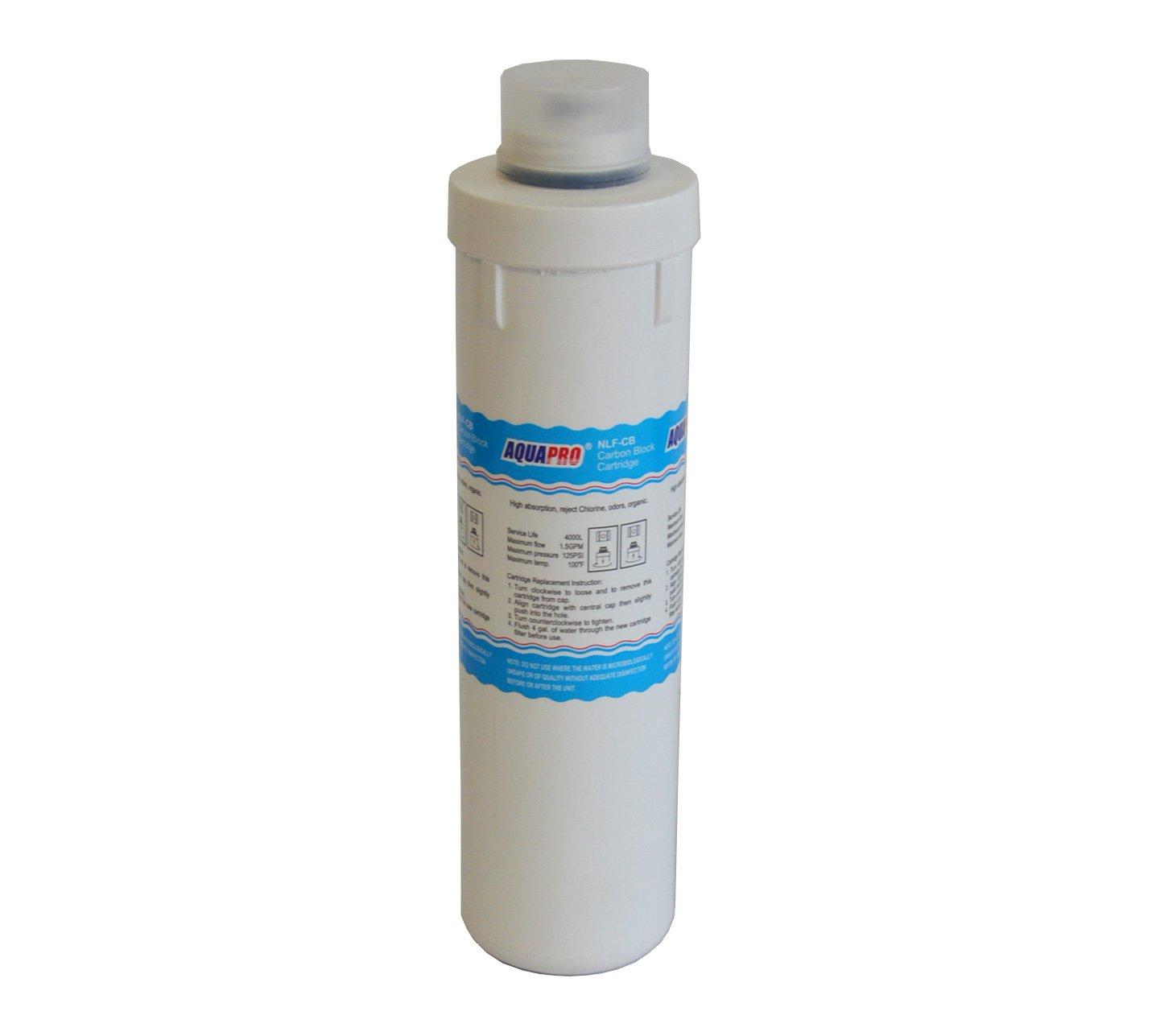 'Cartouche filtre 10Charbon actif de noix de coco pressé pr-nlf-cb 4000L AquaPro